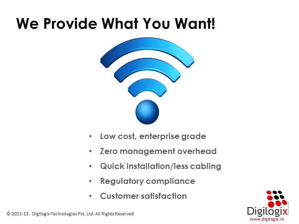 We Provide What You Want!