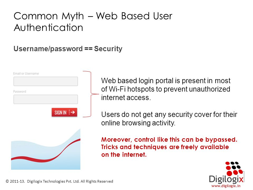 Common Myth – Web Based User Authentication