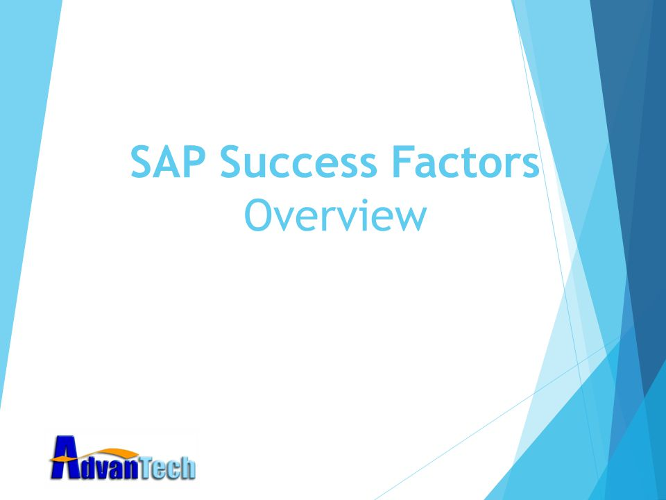 SAP Success Factors Overview