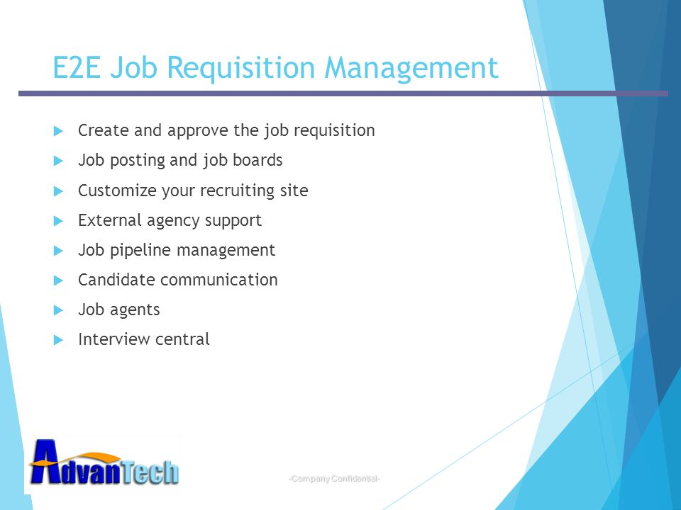 E2E Job Requisition Management