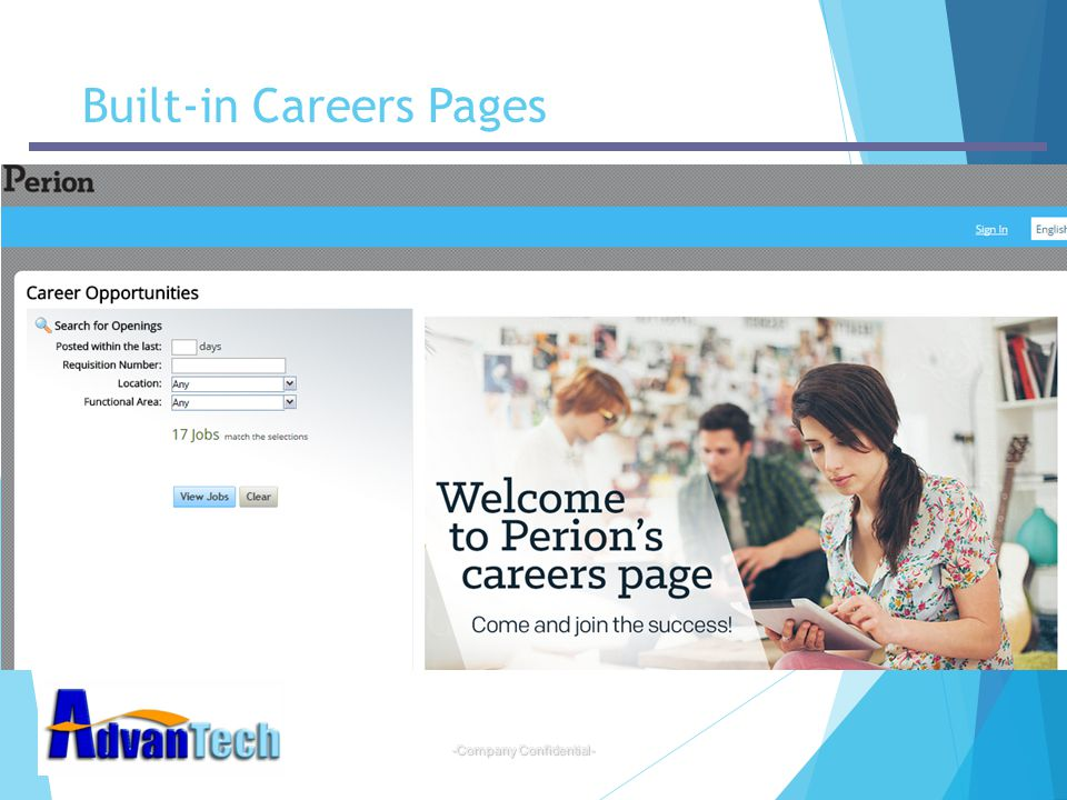 Built-in Careers Pages