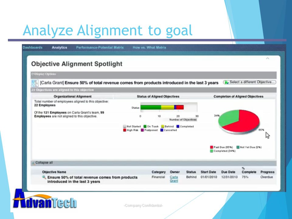 Analyze Alignment to goal