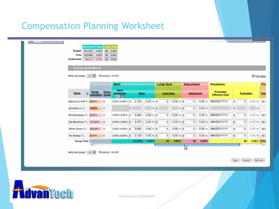 Compensation Planning Worksheet