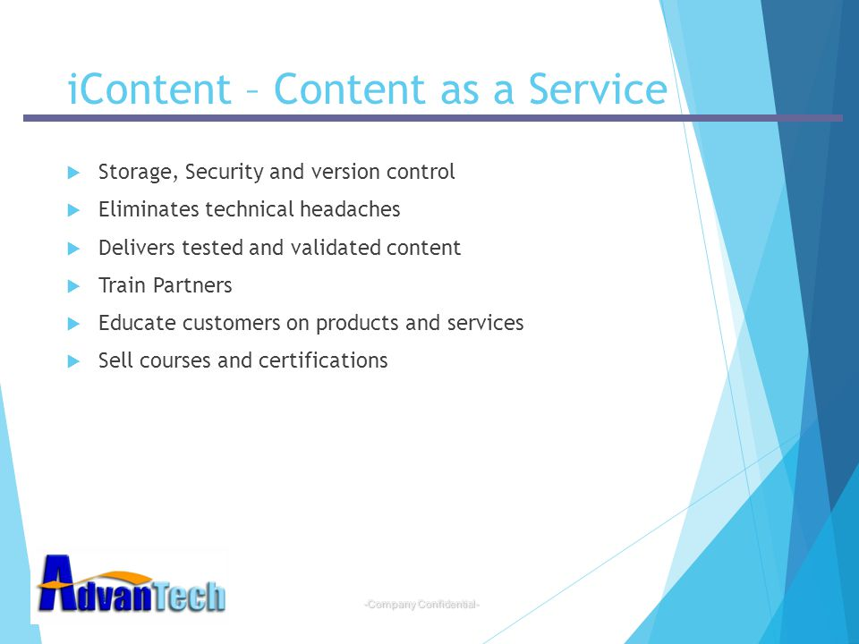 iContent – Content as a Service