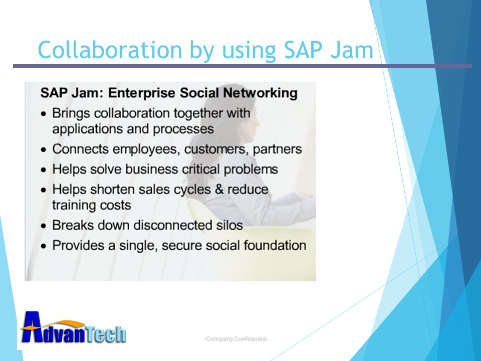Collaboration by using SAP Jam