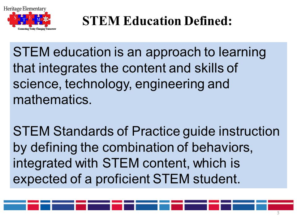 STEM Education Defined: