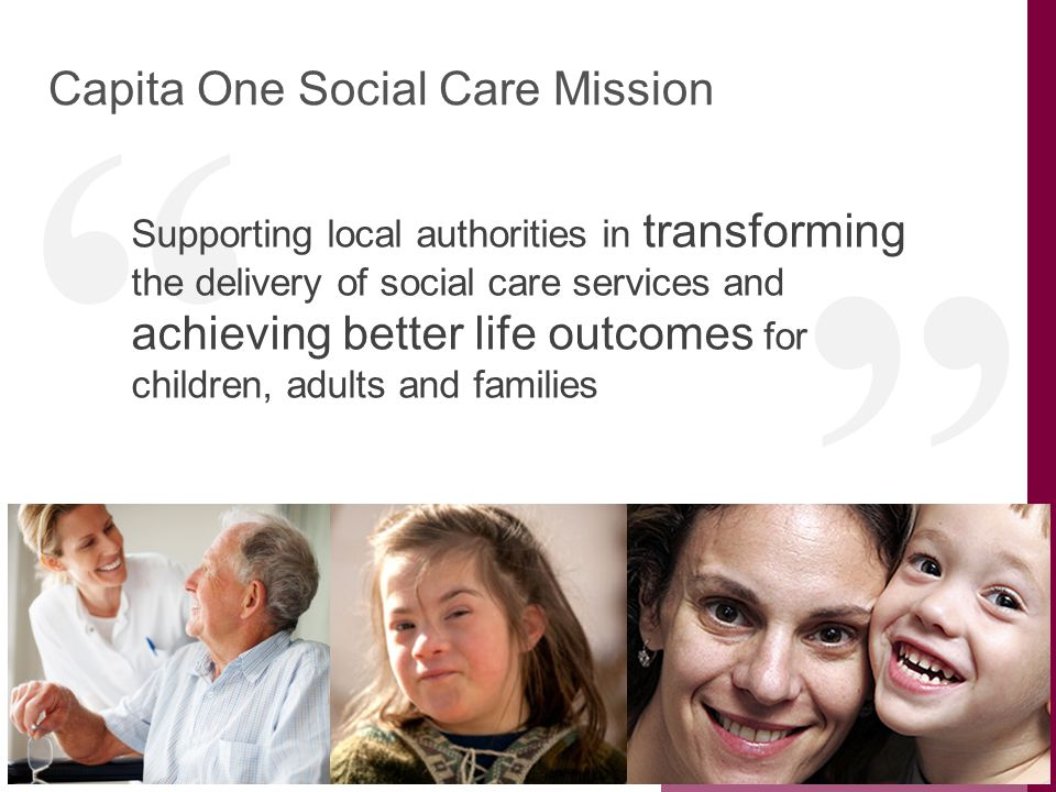 Capita One Social Care Mission