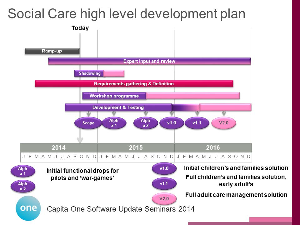 Social Care high level development plan