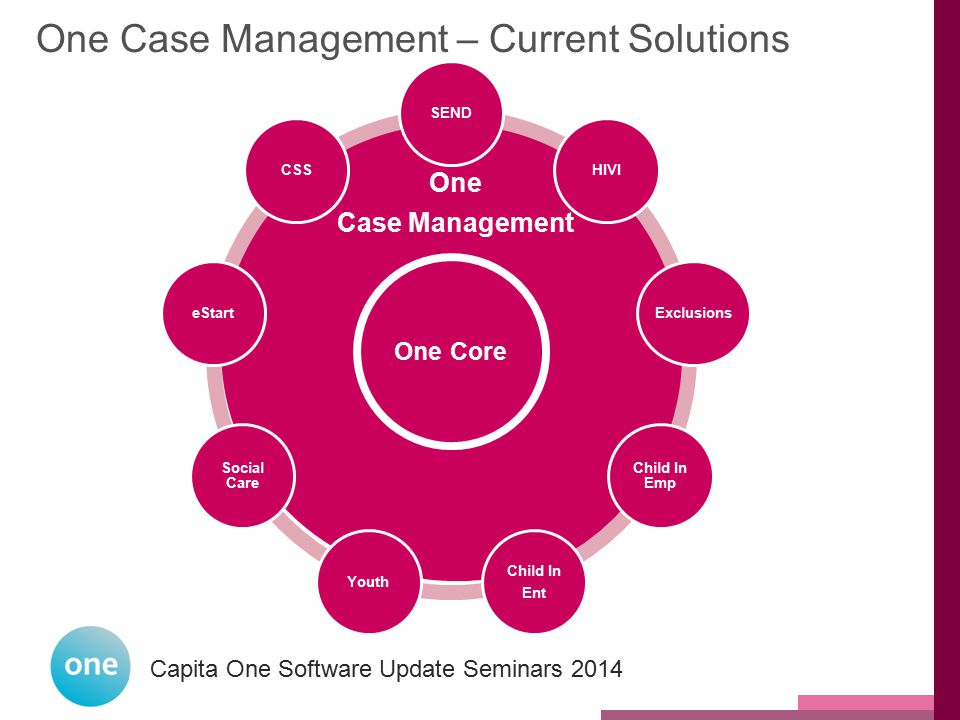 One Case Management – Current Solutions