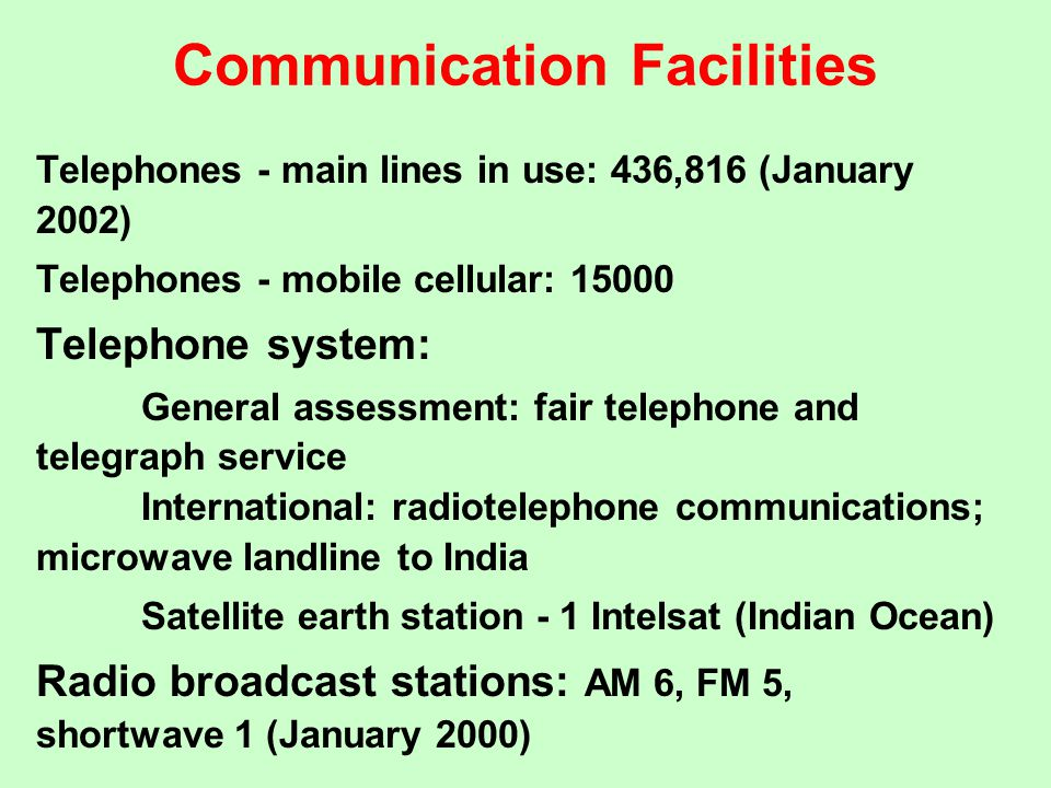 Communication Facilities