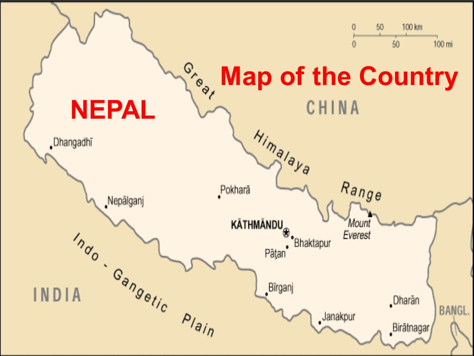 Map of the Country NEPAL