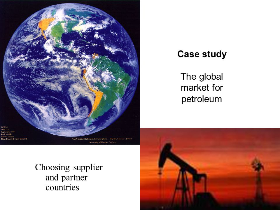 The global market for petroleum
