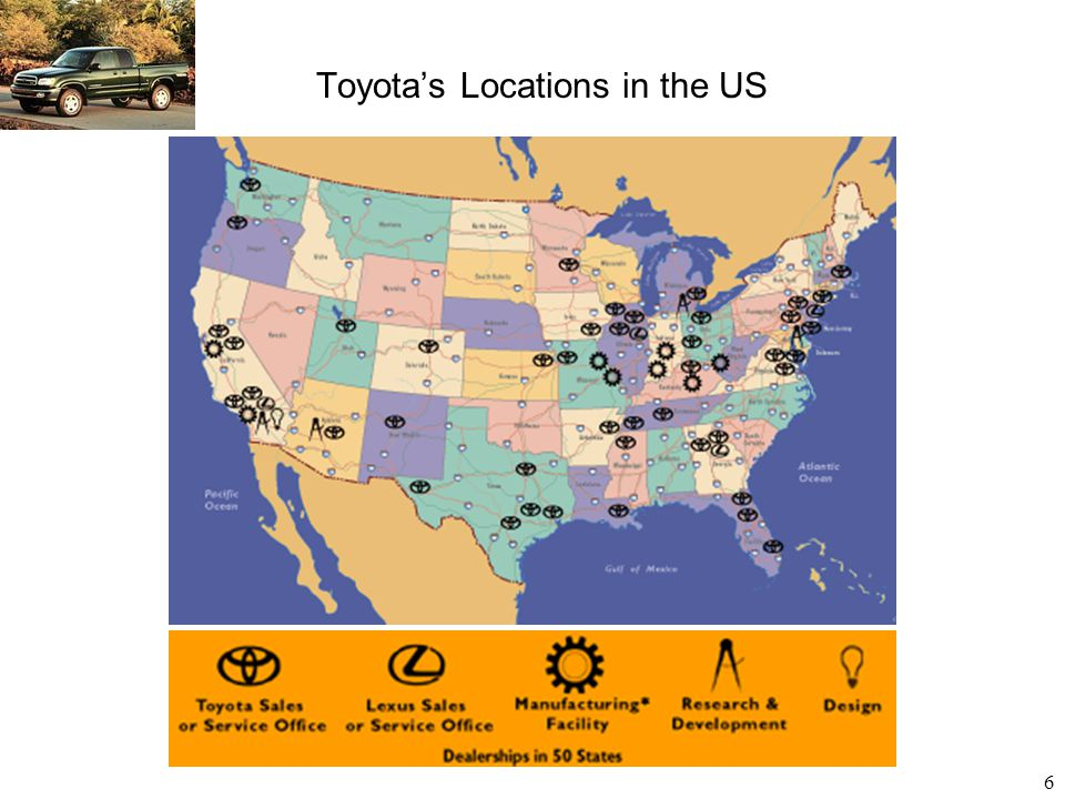Toyota's Locations in the US