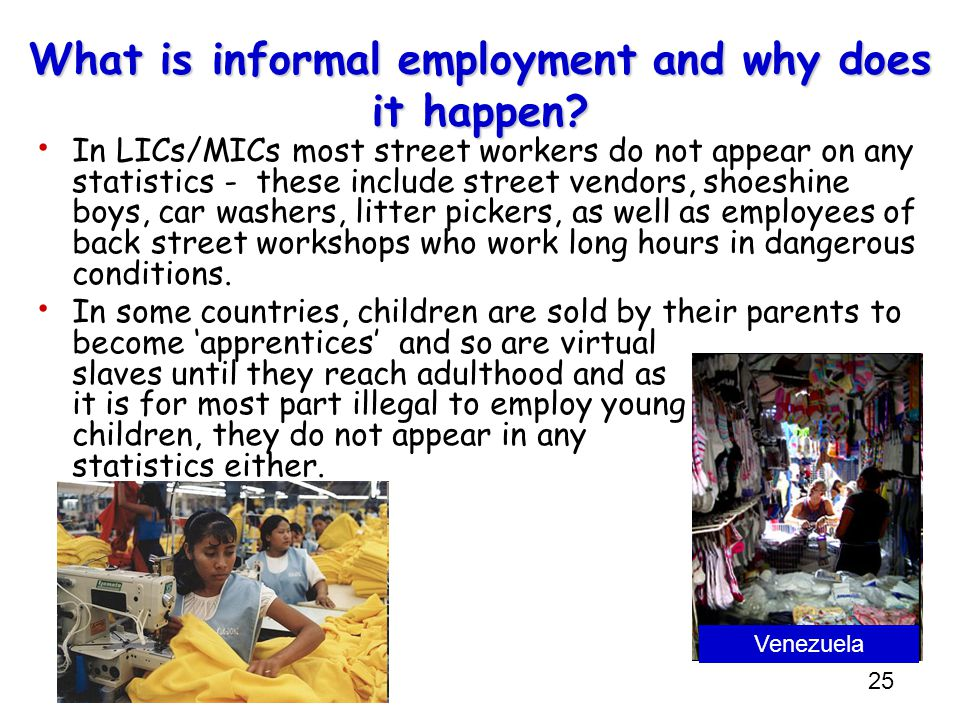 What is informal employment and why does it happen