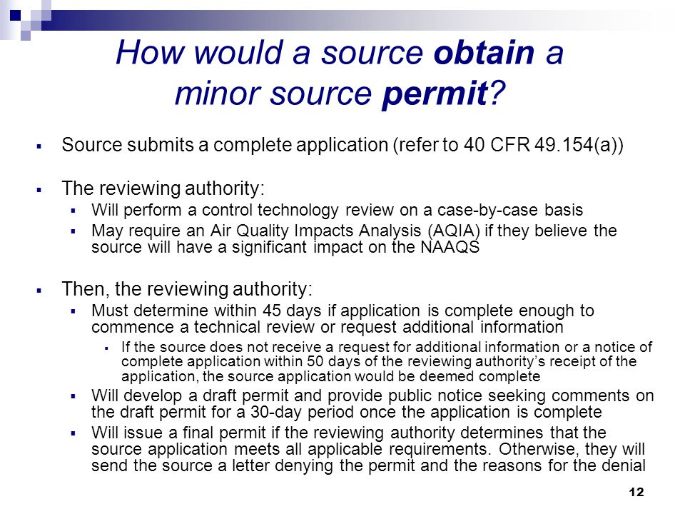 How would a source obtain a minor source permit