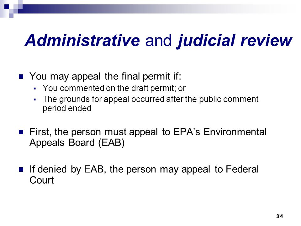 Administrative and judicial review