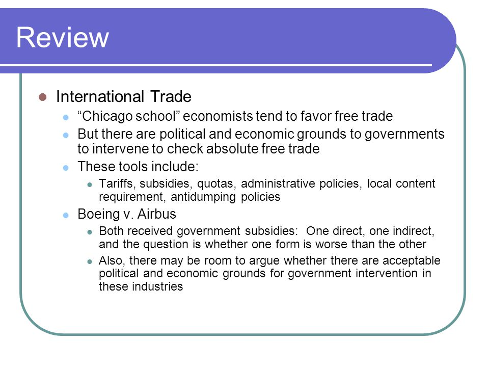 Review International Trade