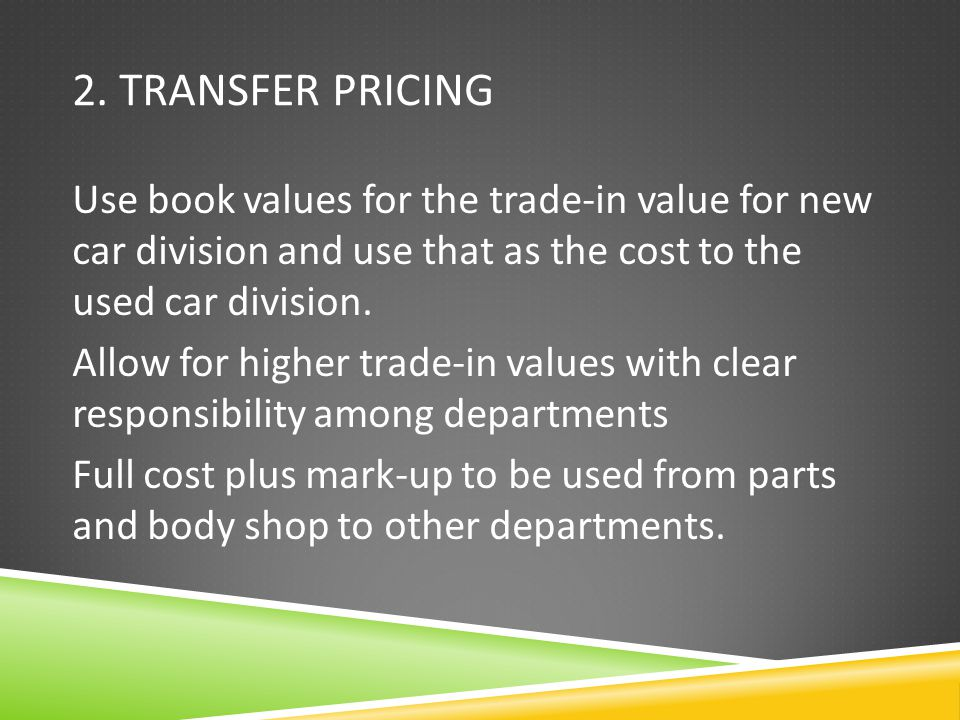 2. Transfer Pricing