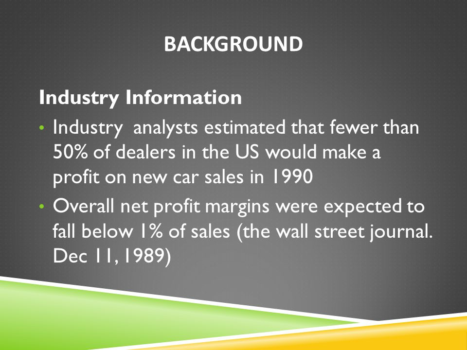 Background Industry Information