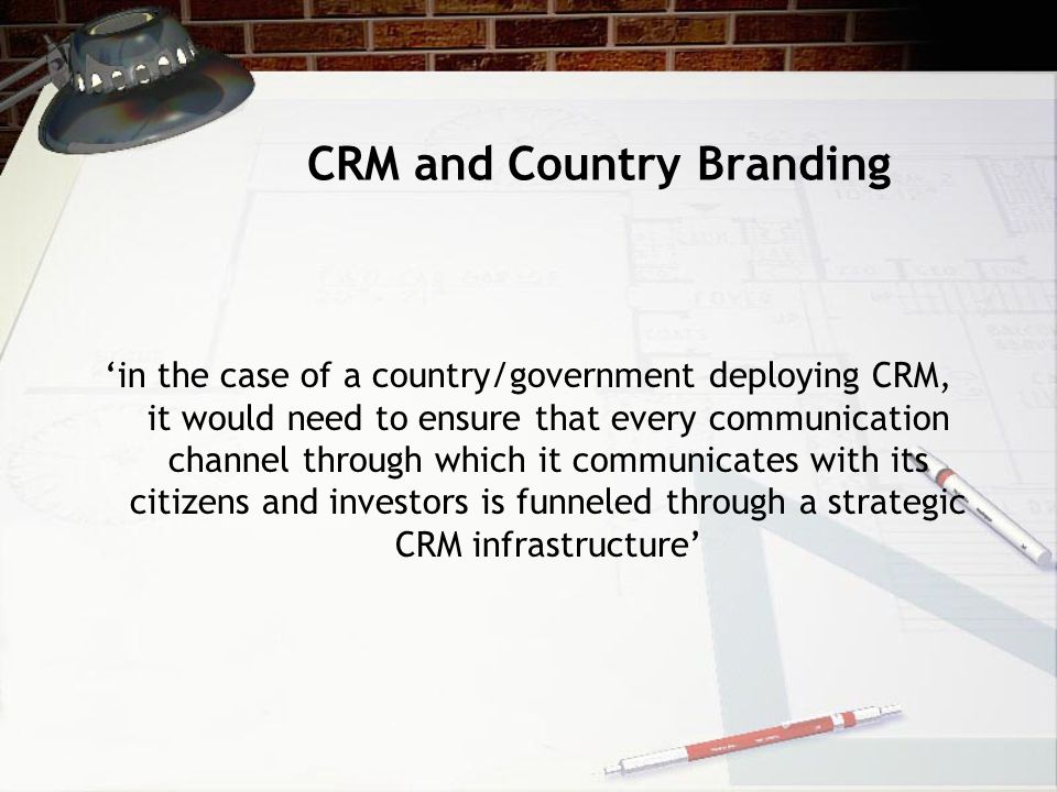 CRM and Country Branding