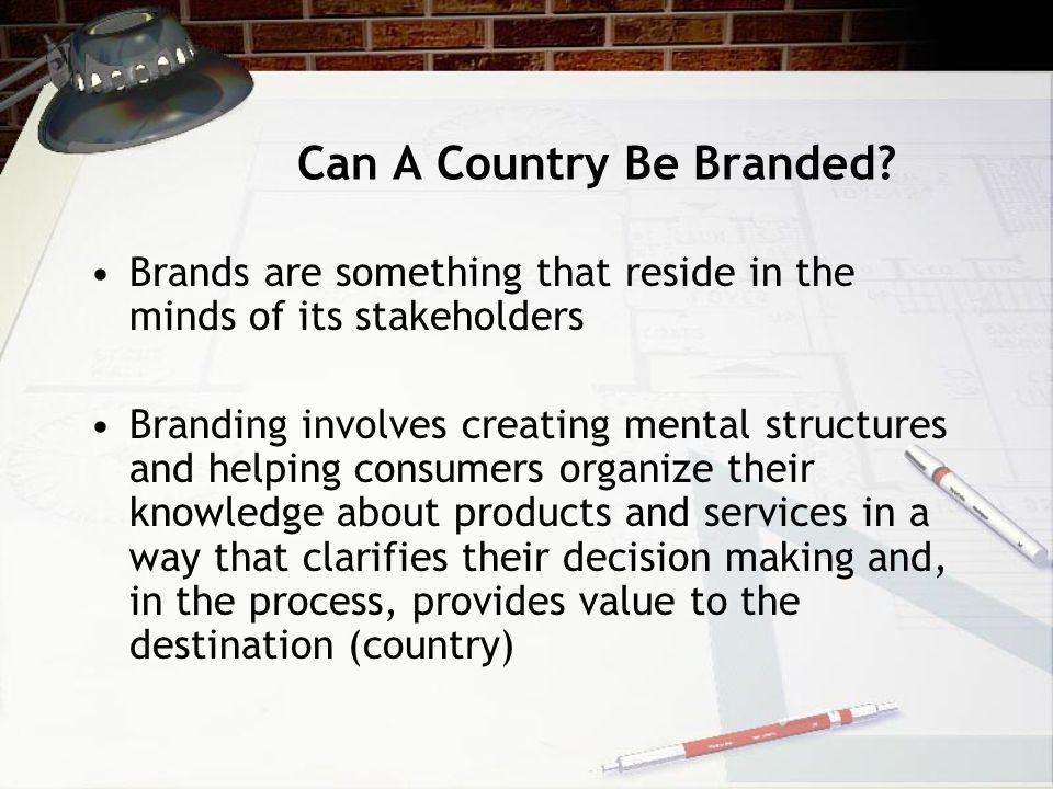 Can A Country Be Branded