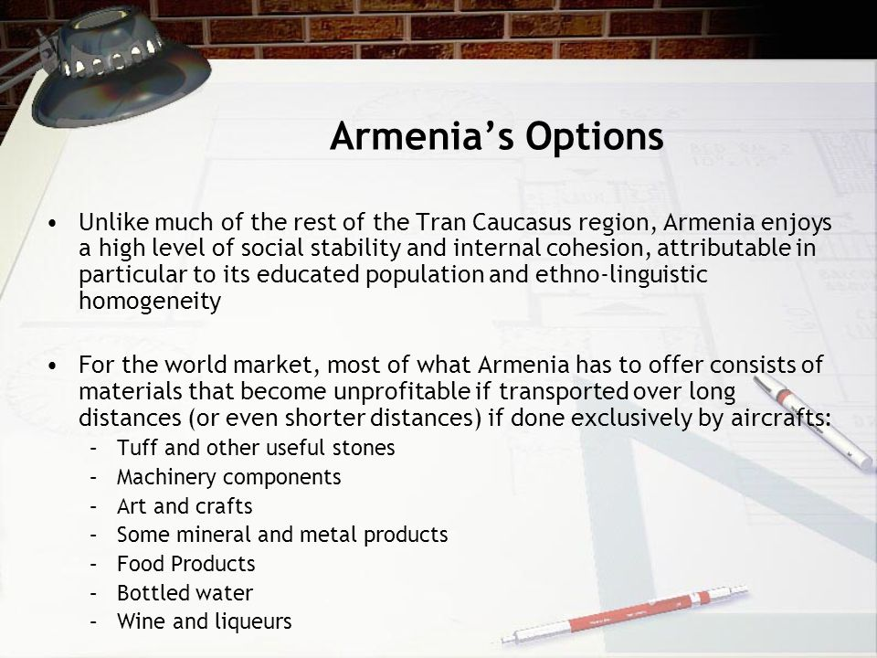 Armenia's Options