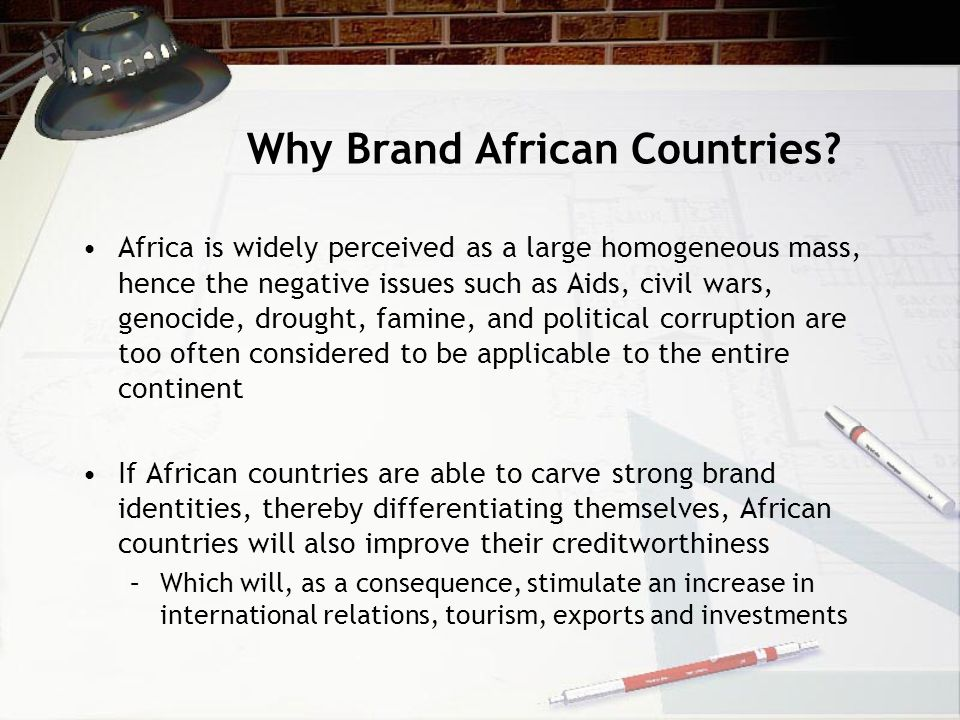 Why Brand African Countries