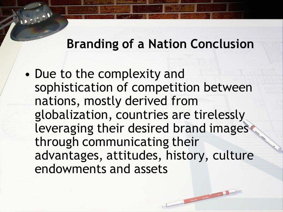 Branding of a Nation Conclusion
