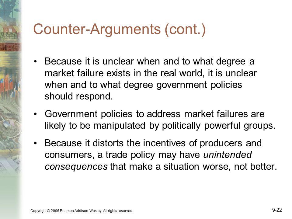 Counter-Arguments (cont.)
