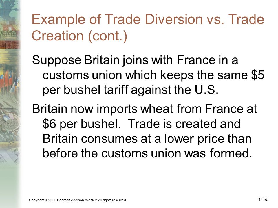 Example of Trade Diversion vs. Trade Creation (cont.)
