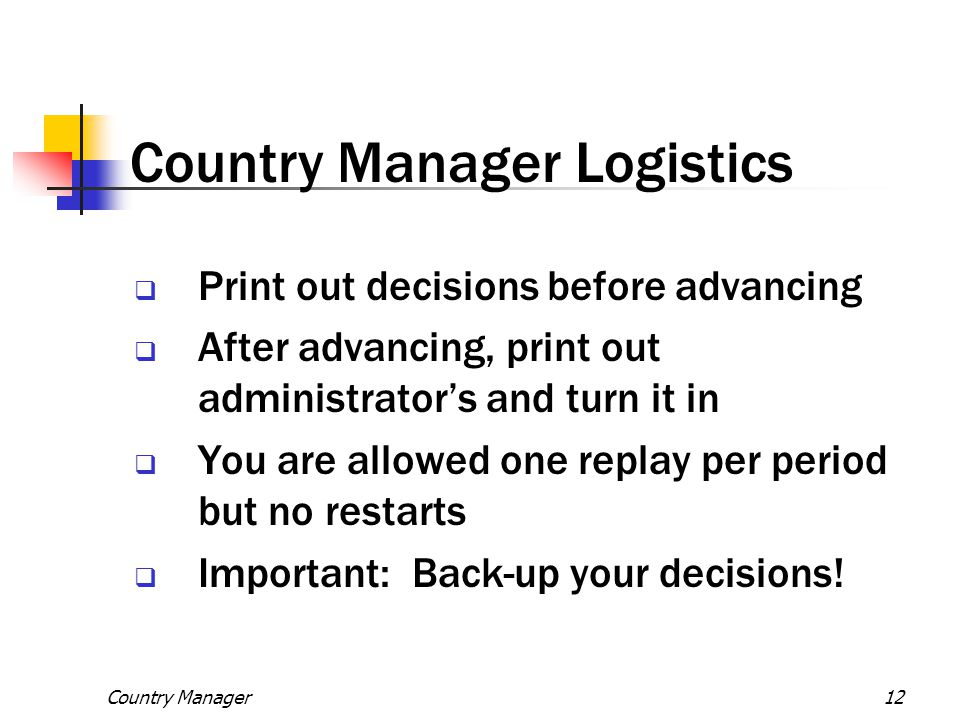 Country Manager Logistics