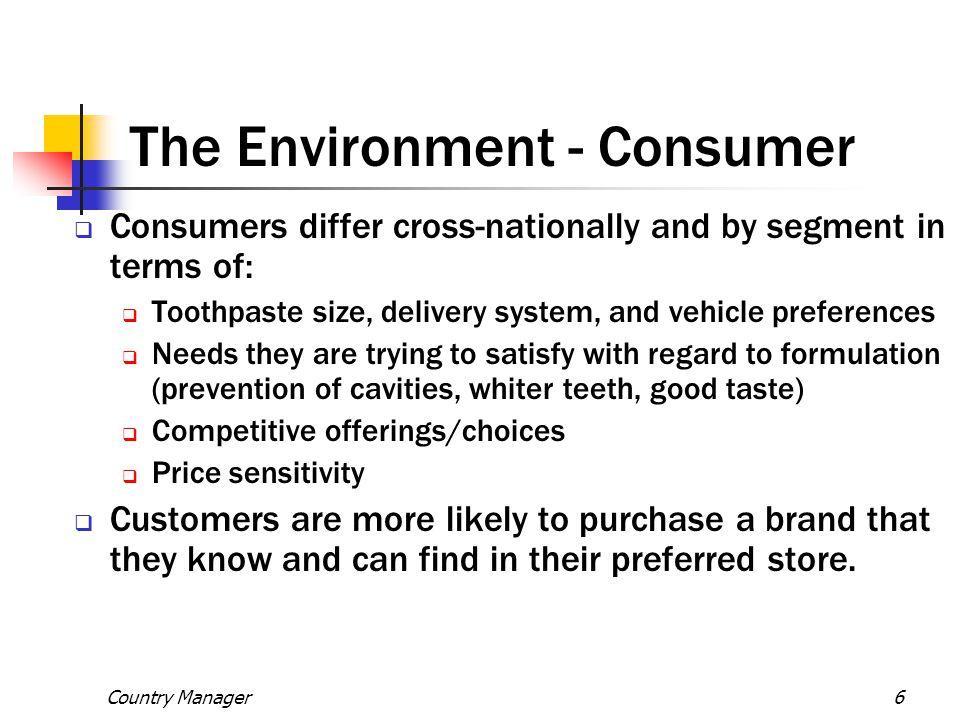 The Environment - Consumer