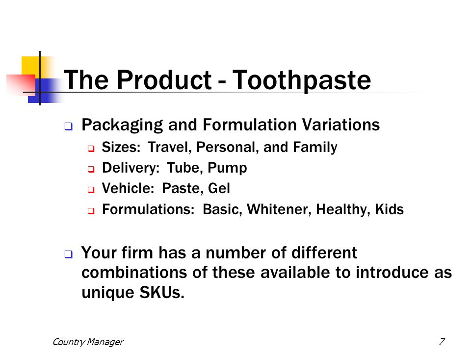 The Product - Toothpaste