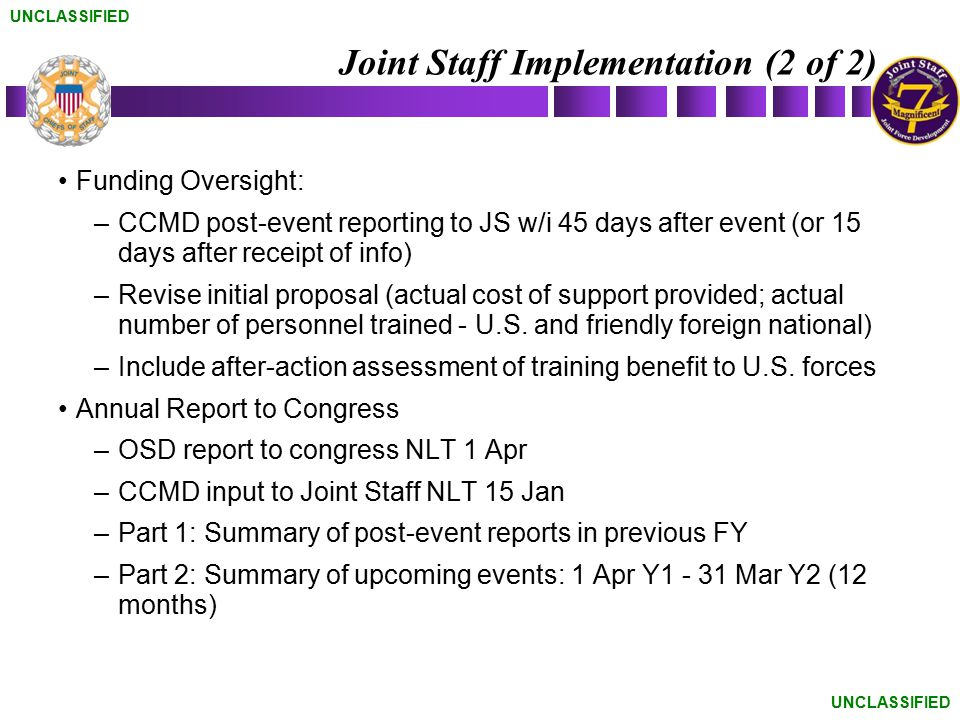 Joint Staff Implementation (2 of 2)