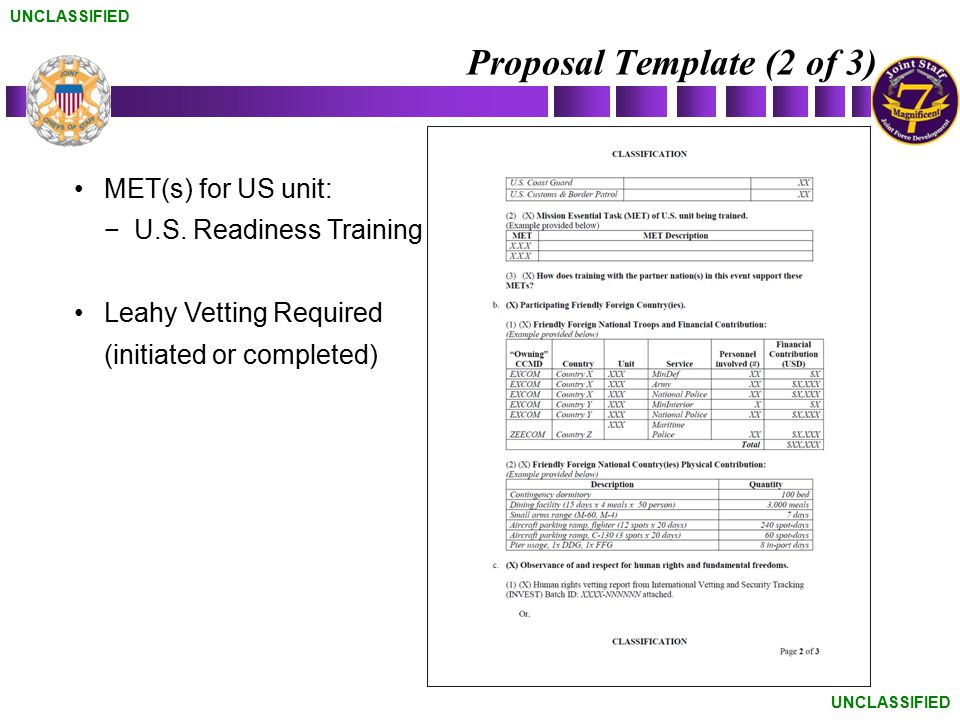 Proposal Template (2 of 3)