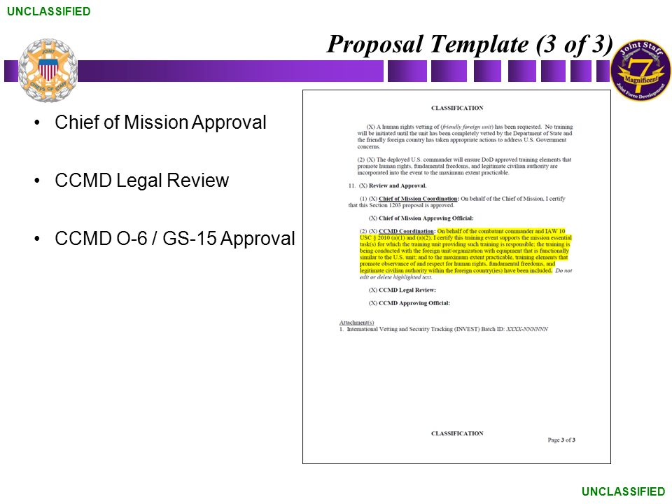 Proposal Template (3 of 3)
