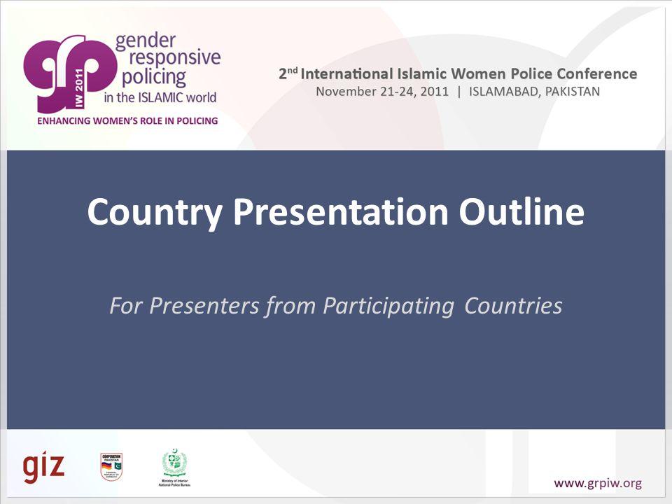 Country Presentation Outline