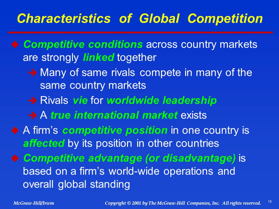 Characteristics of Global Competition
