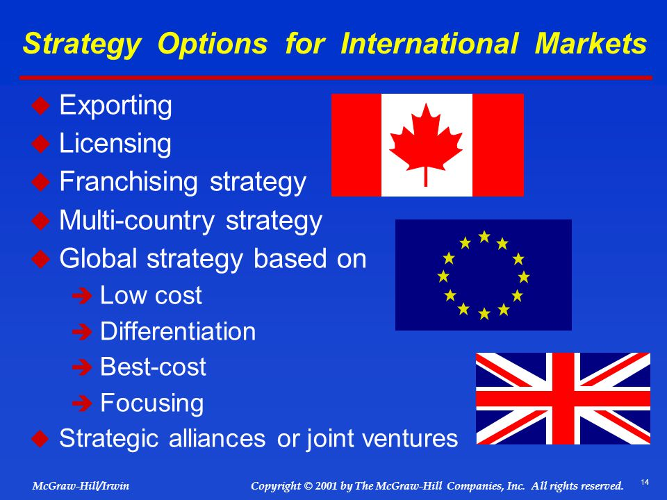 Strategy Options for International Markets