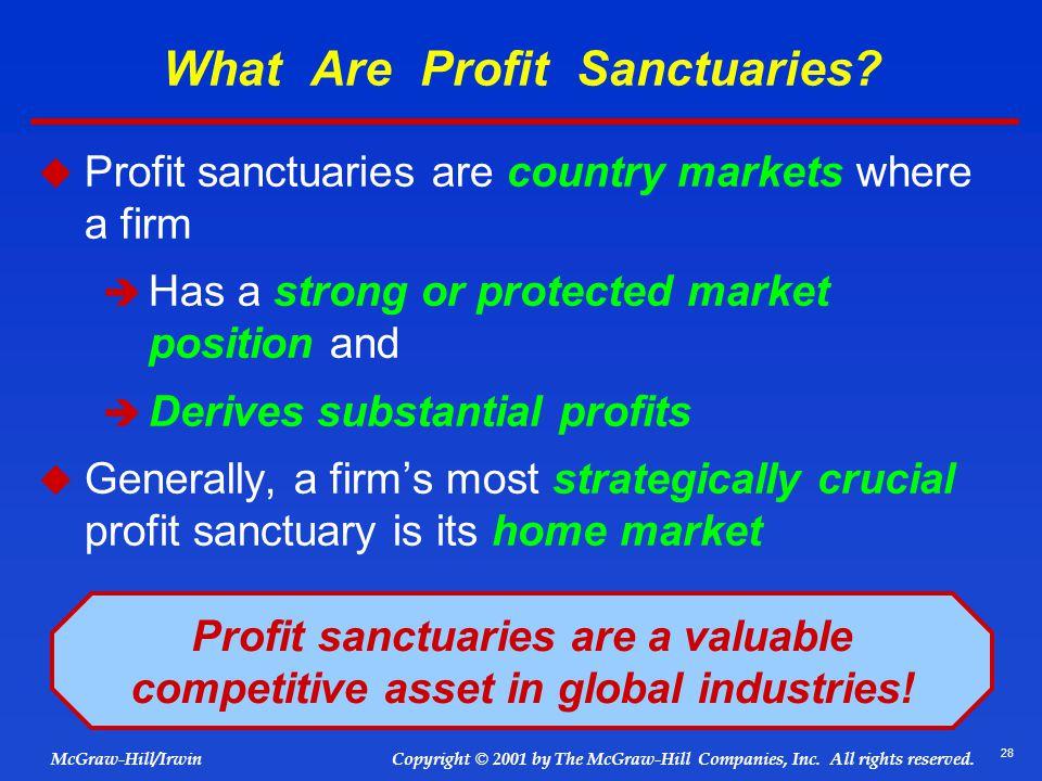 What Are Profit Sanctuaries