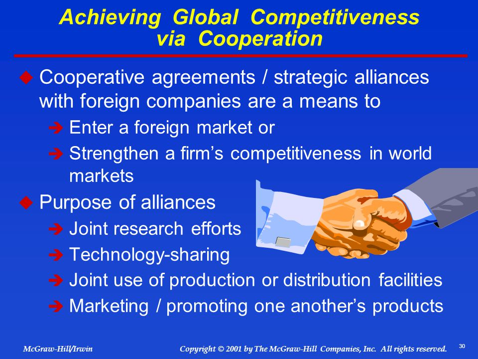 Achieving Global Competitiveness via Cooperation