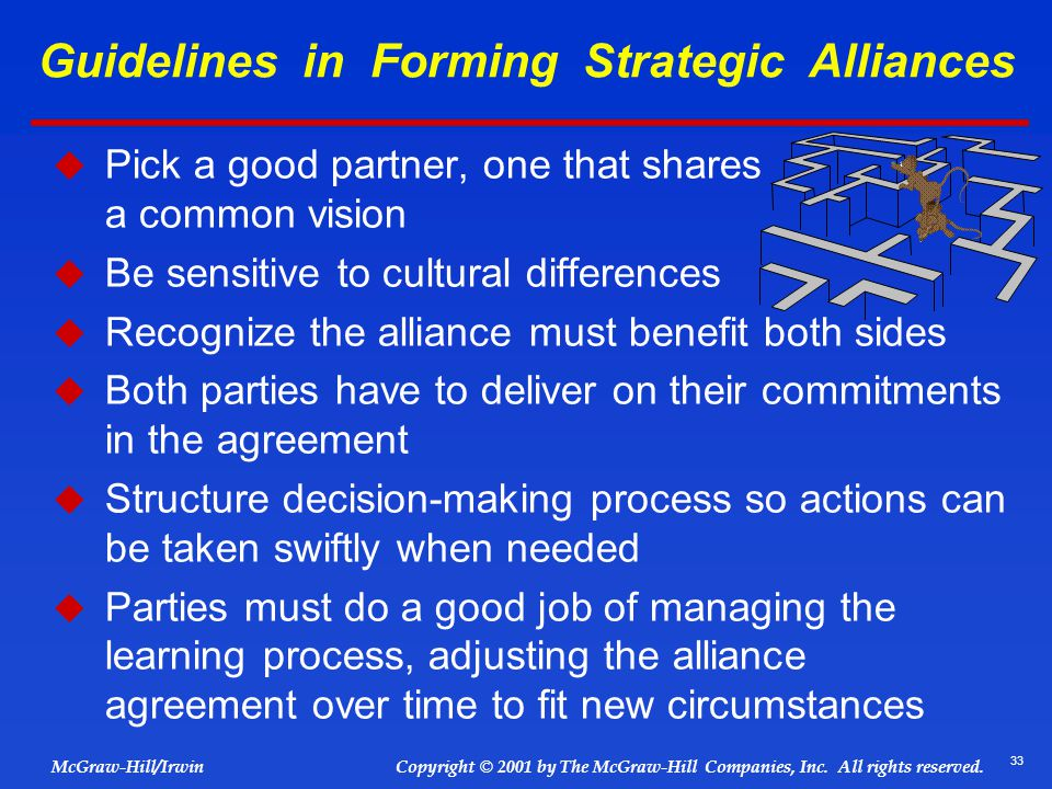 Guidelines in Forming Strategic Alliances