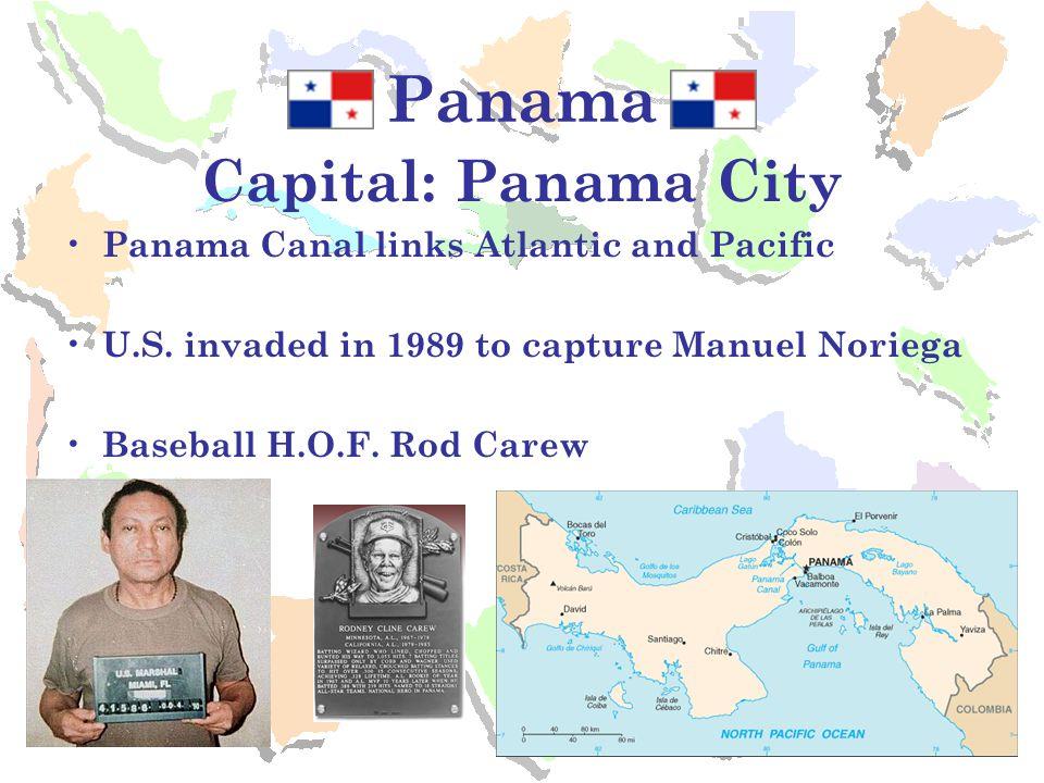 Panama Capital: Panama City Panama Canal links Atlantic and Pacific