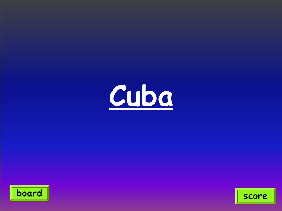 Cuba board score