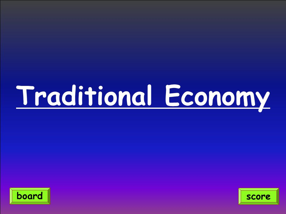 Traditional Economy board score