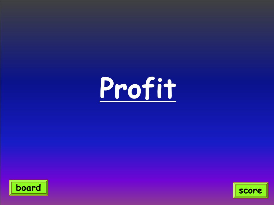 Profit board score