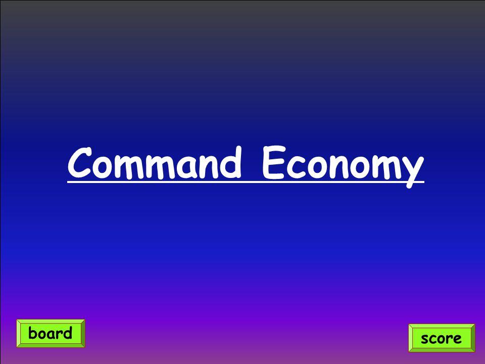 Command Economy board score