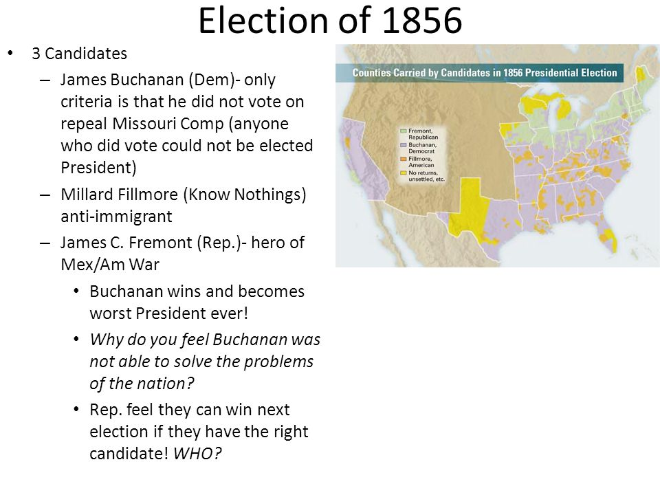 Election of 1856 3 Candidates
