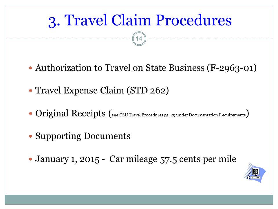 3. Travel Claim Procedures