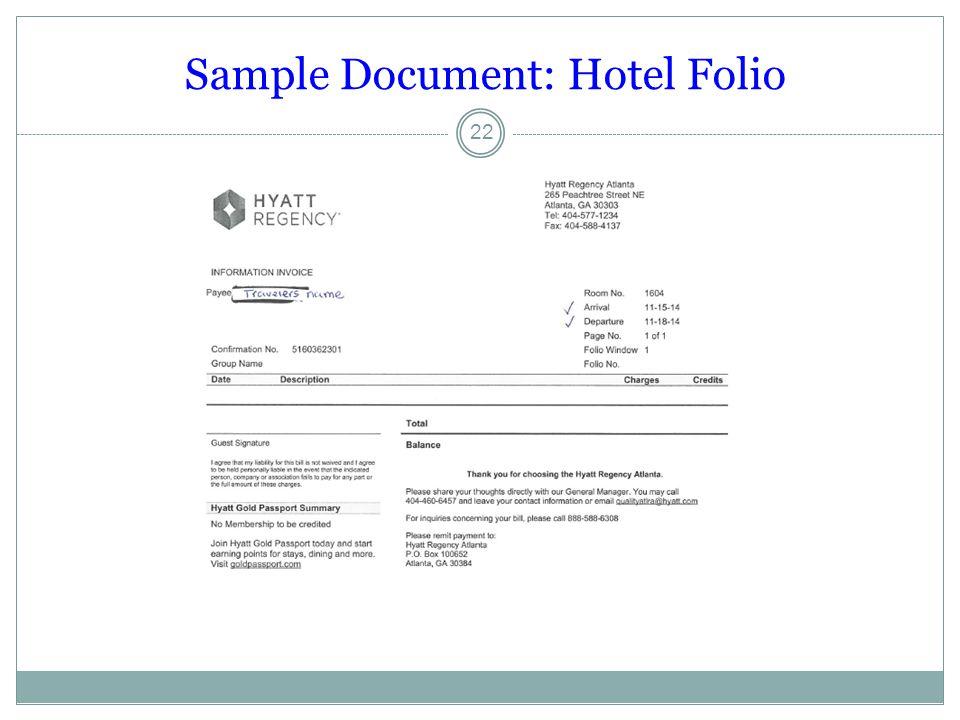 Sample Document: Hotel Folio